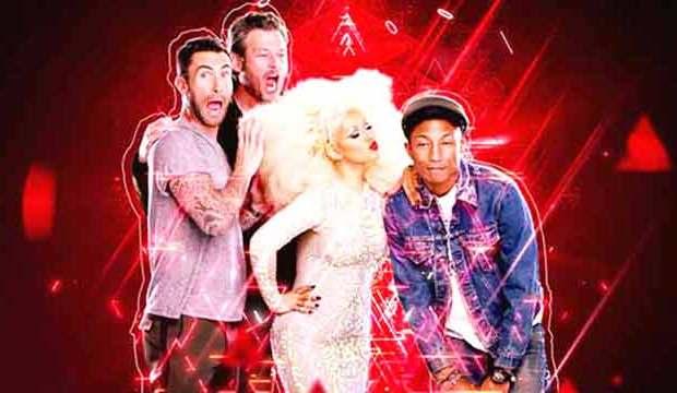 Adam Levine, Blake Shelton, Christina Aguilera, Pharrell Williams, The Voice