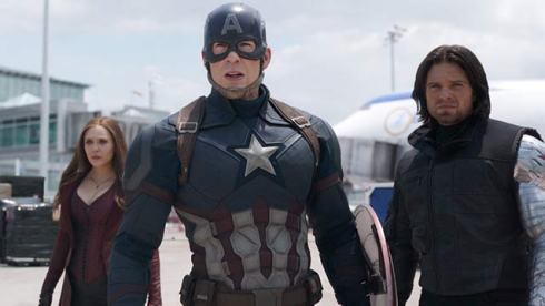 elizabeth olsen chris evans sebastian stan captain america civil war