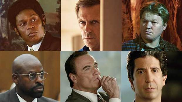 emmys 2016 hugh laurie john travolta sterling k brown jesse plemons david schwimmer