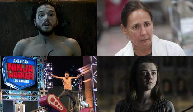 maisie williams kit harington american ninja warrior laurie metcalf
