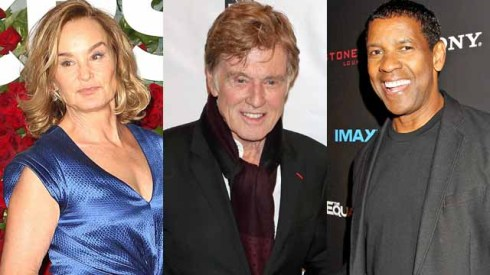 Jessica Lange, Robert Redford, Denzel Washington
