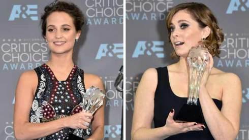 alicia vikander rachel bloom critics choice awards