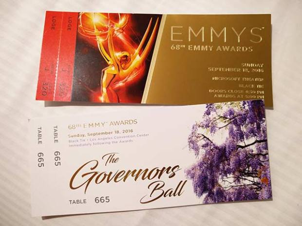 Tickets to the 68th Primetime Emmys and Governors Ball