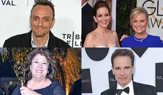 Emmy guest acting winners Hank Azaria, Tina Fey, Amy Poehler, Margo Martindale, Peter Scolari