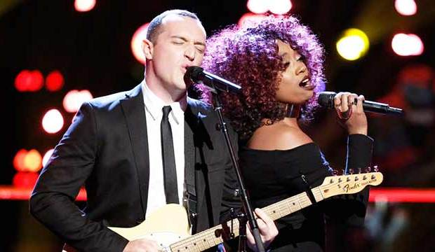 Aaron Gibson and Sa'Rayah on The Voice