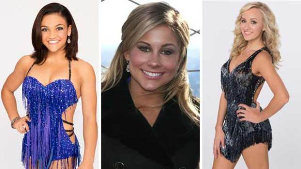 nastia liukin shawn johnson laurie hernandez dancing with the stars dwts abc