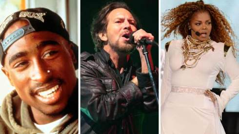 tupac shakur pearl jam janet jackson rock and roll hall of fame