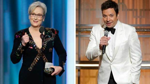 2017 Golden Globe Awards Show Review meryl streep jimmy fallon