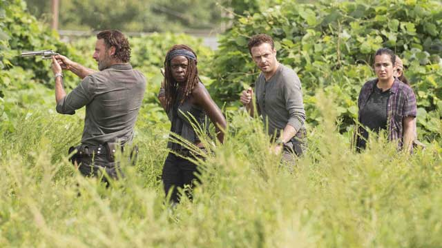 the walking dead andrew lincoln danai gurira ross marquand
