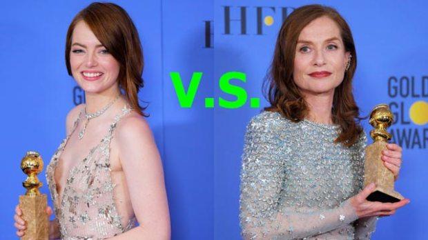 Emma Stone vs. Isabelle Huppert