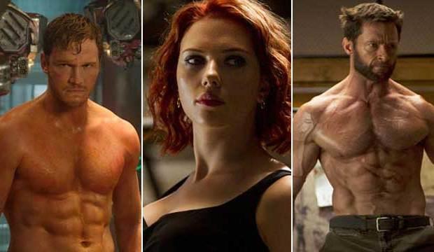 marvel's sexiest heroes chris pratt scarlett johansson hugh jackman logan