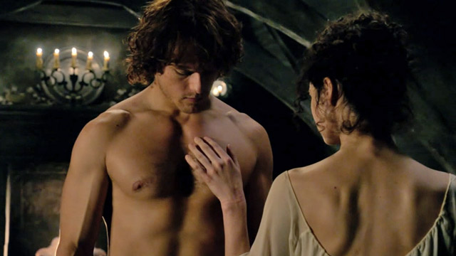 Image result for jamie and claire wedding night
