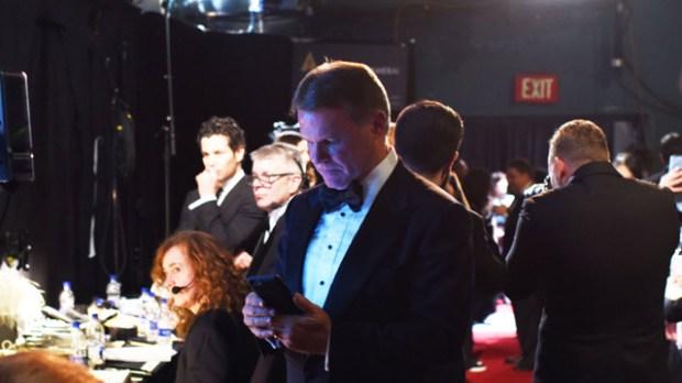 Brian Cullinan Tweeting on the job Top ten award show bloopers and mix-ups