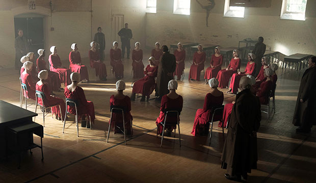 "still from the ""Offred"" debut episode of Hulu's 'The Handmaid's Tale'"