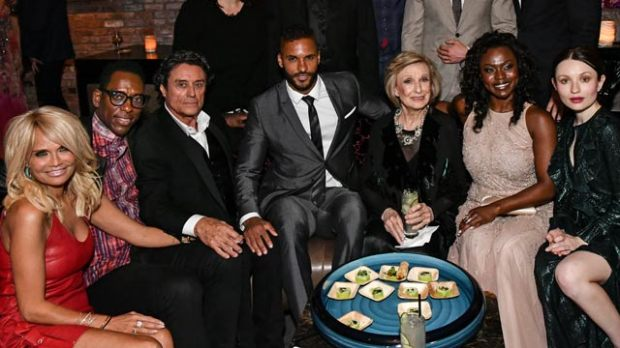 american-gods-party-ian-mcshane-ricky-whittle-kristin-chenoweth