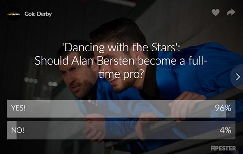 dancing with the stars alan bersten poll results