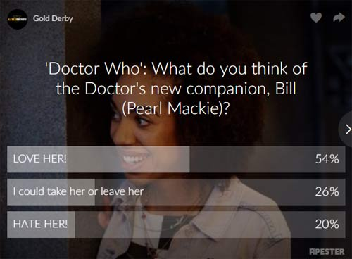 doctor who poll results pearl mackie bill potts