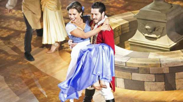 ginger zee dancing with the stars disney night val chmerkovskiy