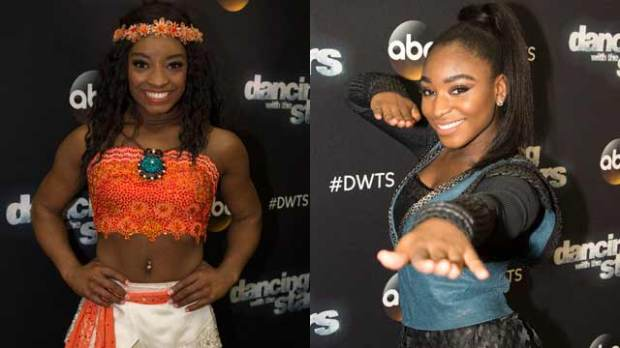 normani kordei dancing with the stars dwts simone biles disney night