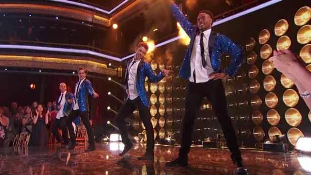 team boy band dancing with the stars dwts rashad jennings bonner bolton nick viall david ross dwts