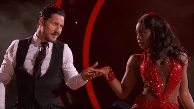 normani kordei dancing with the stars week 3 val chmerkovskiy