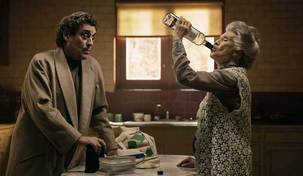 "Ian McShane and Cloris Leachman in ""American Gods"" on Starz"