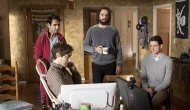 Kumail Nanjiani, Thomas Middleditch, Martin Starr & Zach Woods in 'Silicon Valley'