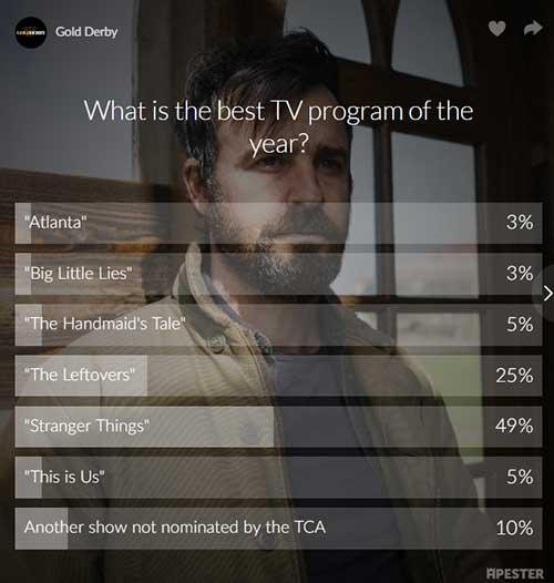 stranger things the leftovers best tv program of the year