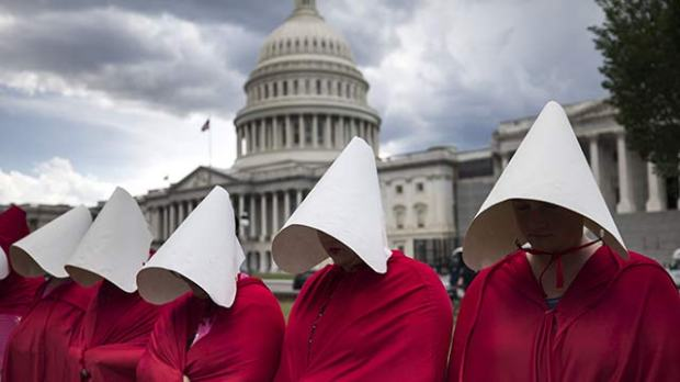 handmaid's tale protest washington dc republican health care bill
