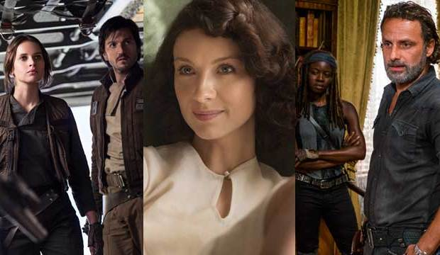 rogue one a star wars story outlander the walking dead