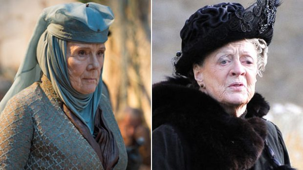game-of-thrones-diana-rigg-downton-abbey-maggie-smith