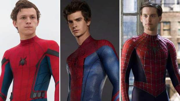 tom holland spider-man andrew garfield tobey maguire