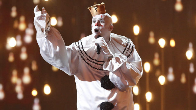 Puddles Pity Party Americas Got Talent live show.