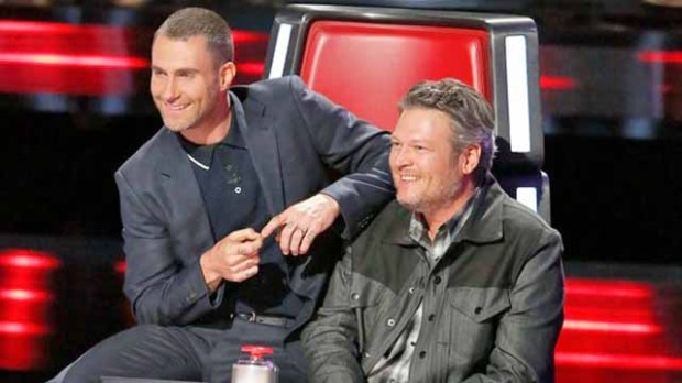 Adam Levine, Blake Shelton on The Voice