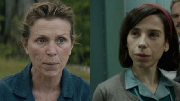 "Frances McDormand in ""Three Billboards,"" Sally Hawkins in ""The Shape of Water"""