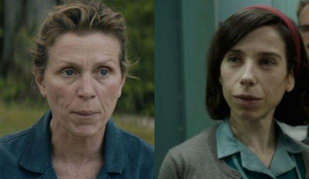 "Frances McDormand in ""Three Billboards,"" Sally Hawkins in ""The Shape of Water"""