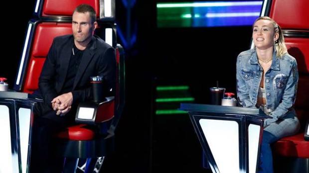 The-Voice-Coaches-Adam-Levine-Miley-Cyrus