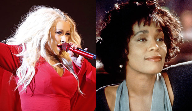 christina-aguilera-whitney-houston-the-bodyguard-american-music-awards