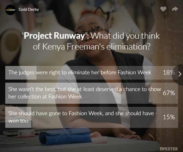 project runway kenya freeman poll results