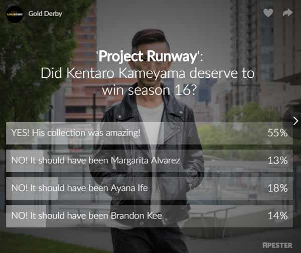 project runway poll kentaro kameyama