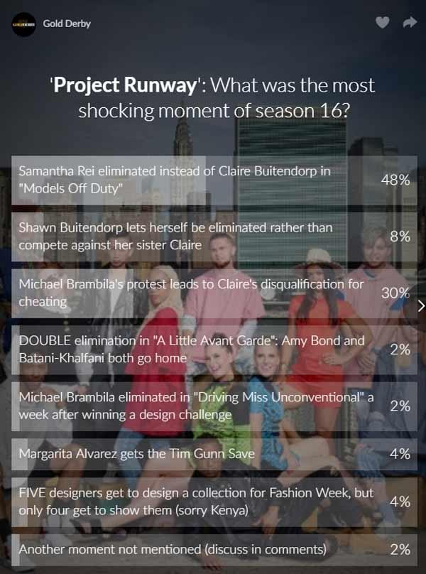project runway shockers