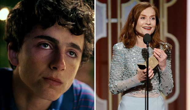 Timothee Chalamet and Isabelle Huppert