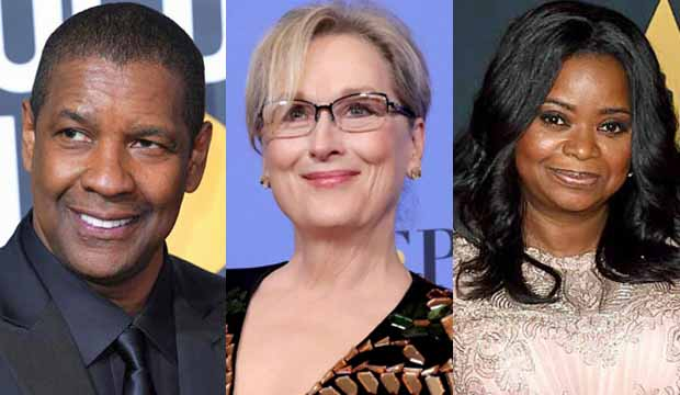 Denzel Washington Meryl Streep Octavia Spencer Oscars