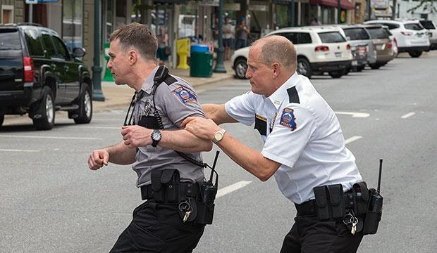 Sam Rockwell & Woody Harrelson in 'Three Billboards Outside Ebbing, Missouri'
