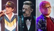 Bruno Mars Justin Timberlake Ed Sheeran