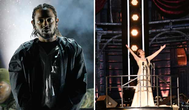 Kendrick Lamar and Patti LuPone Grammys 2018