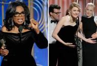 Oprah Winfrey Greta Gerwig Golden Globes 2018