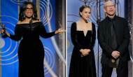 Oprah Winfrey and Natalie Portman Golden Globes 2018