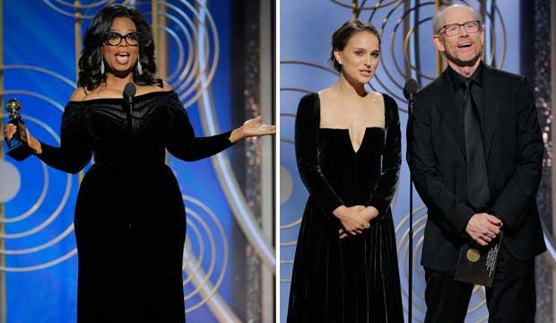 Oprah Winfrey and Natalie Portman Golden Globes 2018