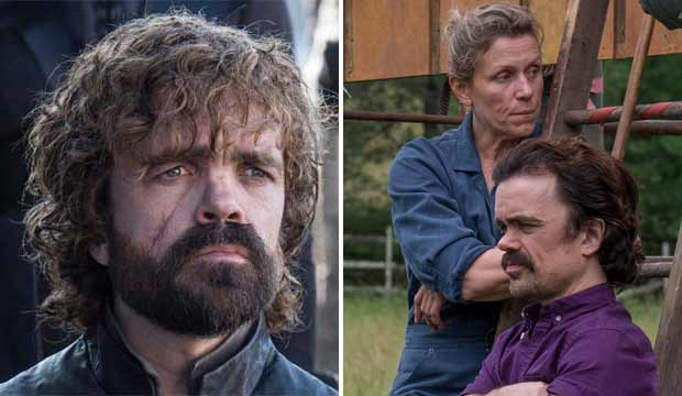 Peter Dinklage Game of Thrones and Three Billboards